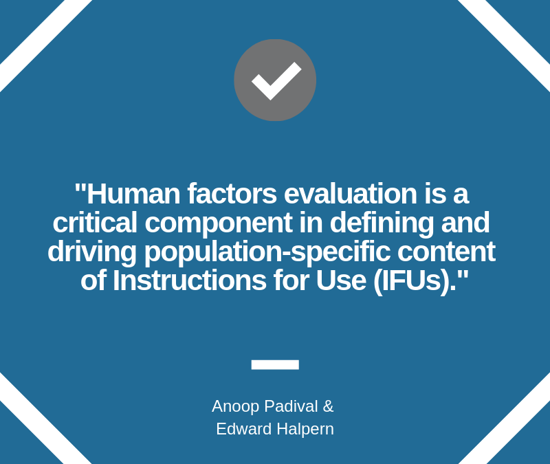 Global Combination Products and Human Factors