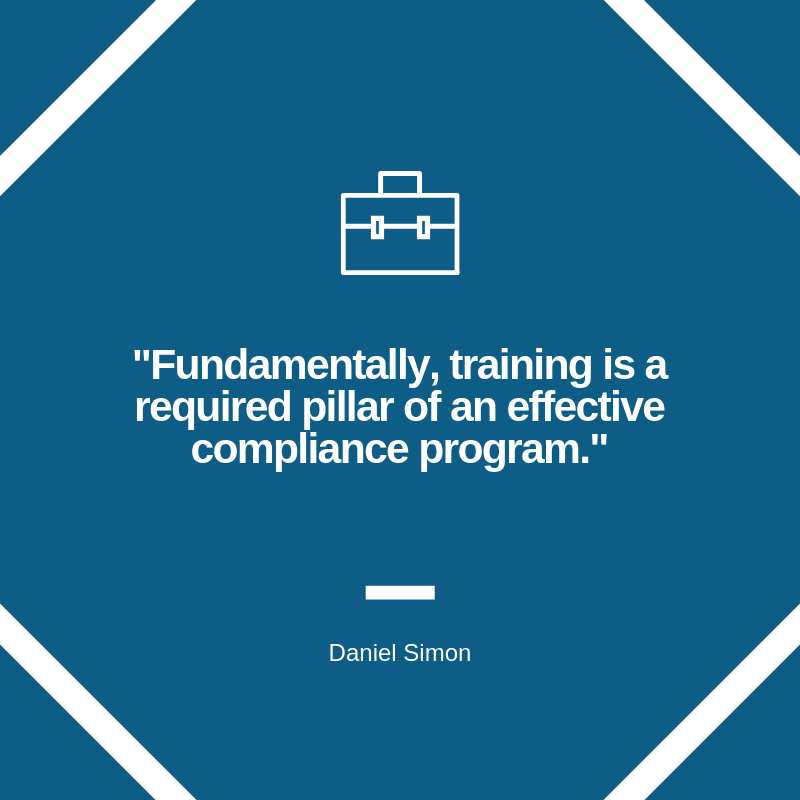 compliance training quote graphic