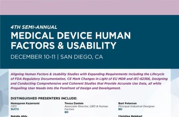 Medical Device Human Factors Conference West Download Agenda Image