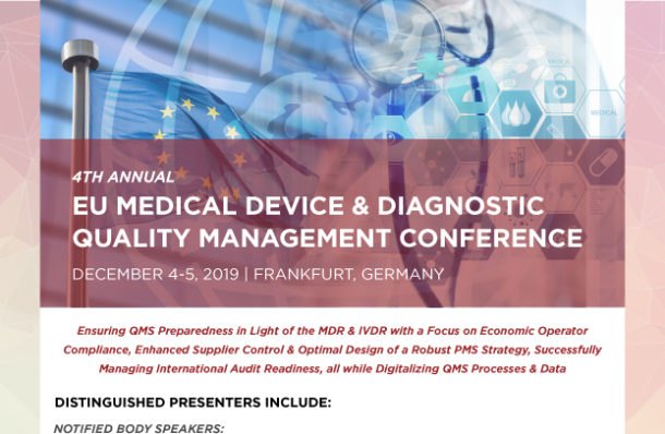 2019 EU Device and Diagnostic Quality Management Conference Download Agenda Image