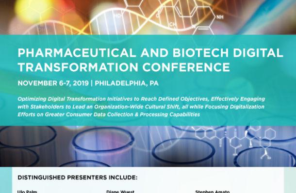 2019 Pharmaceutical Digital Transformation Conference Pop up Agenda Download Image