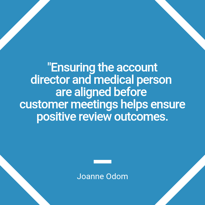 positive review outcomes quote graphic