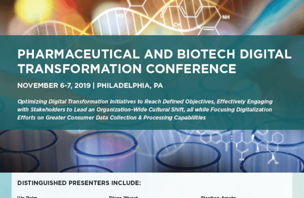 2019 Pharmaceutical and Biotech Digital Transformation Conference Banner