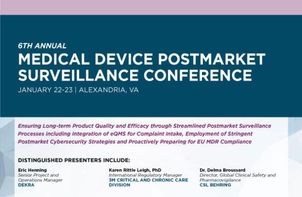 Medical Device Postmarket Surveillance Conference Pop up Agenda Download